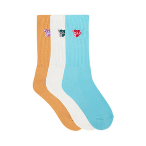 CUPID SOCKS 3PK by GOLF WANG | Cream/Blue/Orange