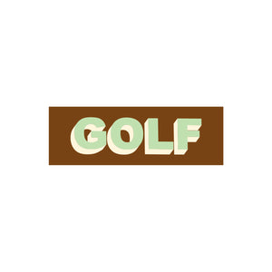GOLF STICKER - TWO TONE by GOLF WANG | Brown