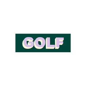GOLF STICKER - TWO TONE by GOLF WANG | Dark Green