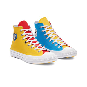TRI PANEL CHUCK 70 HI by GOLF WANG | Blue/Yellow/Red