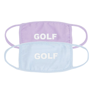 GOLF FACE MASK 2PK by GOLF WANG | Lavender/Light Blue