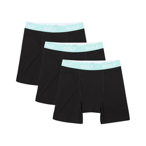 LOGO BOXER BRIEFS 3PK by GOLF WANG | Black