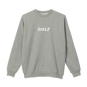 GOLF LOGO CREWNECK by GOLF WANG | Heather Grey