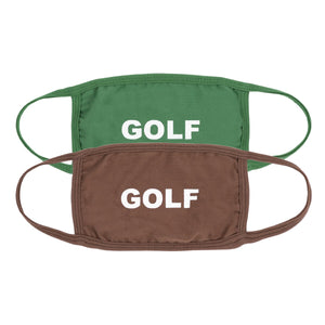 GOLF FACE MASK 2PK by GOLF WANG | Green/Brown