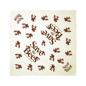SAVE THE BEES BANDANA by GOLF WANG | Cream