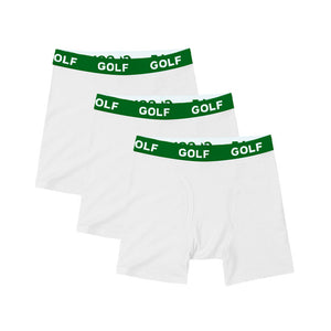 LOGO BOXER BRIEFS 3PK by GOLF WANG | White/Green
