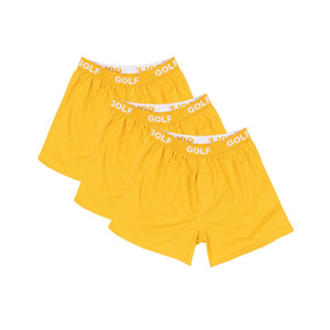 LOGO BOXERS 3PK by GOLF WANG | Yellow