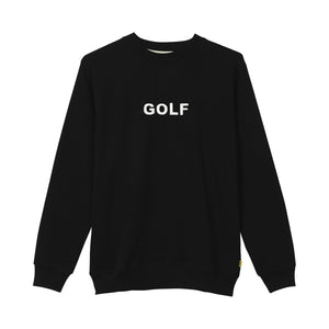 GOLF LOGO CREWNECK by GOLF WANG | Black