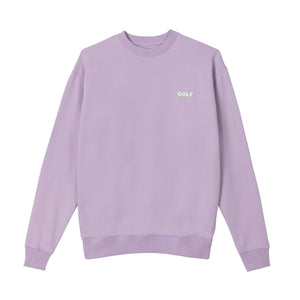 GOLF MINI 3D 2 TONE LOGO CREWNECK by GOLF WANG | Lavender