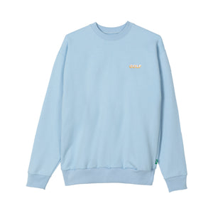 GOLF MINI 3D 2 TONE LOGO CREWNECK by GOLF WANG | Powder Blue