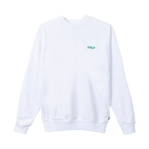 GOLF MINI LOGO CREWNECK by GOLF WANG | White/Green