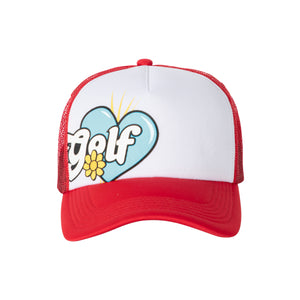 BIG ROMEO TRUCKER HAT by GOLF WANG | Red