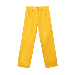 ROPE LOGO DENIM JEANS by GOLF WANG | Yellow
