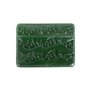 WAVES DEBOSSED CARD HOLDER by GOLF WANG | Green