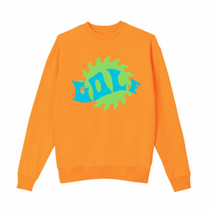 WAVES CREWNECK by GOLF WANG | Orange