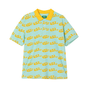 WAVES TERRY CLOTH POLO by GOLF WANG | Baby Blue