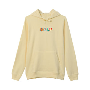 MULTI COLOR 3D GOLF HOODIE by GOLF WANG | Cream