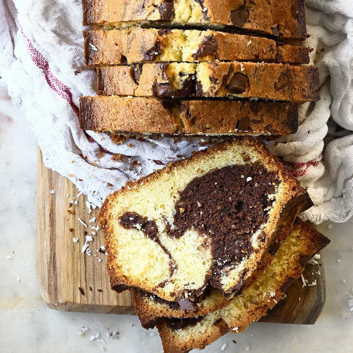 Fresh Bake Plain/ Marble Slice Cake