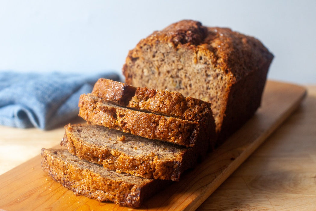 Fresh Bake Banana Loaf Slice