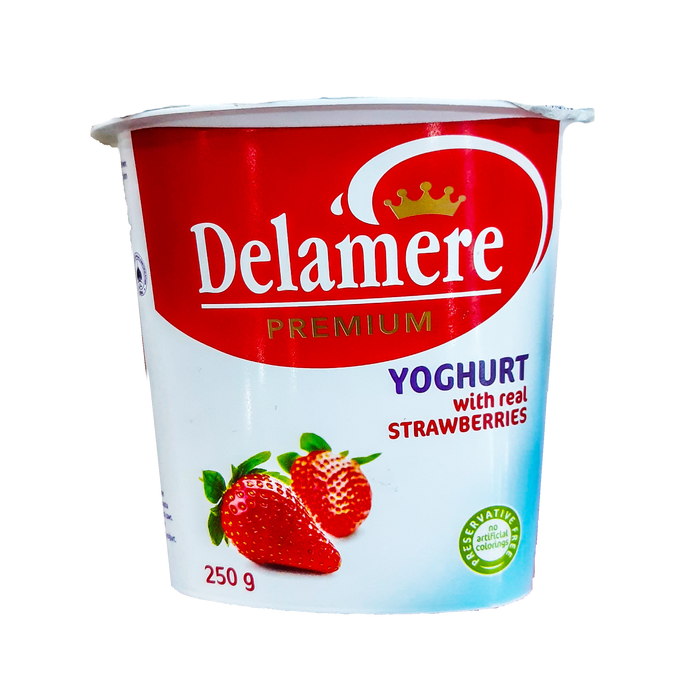 Delamere Premium Yoghurt Strawberry 250g