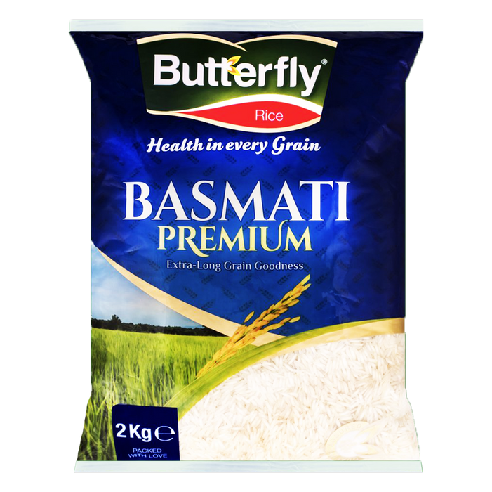 Butterfly Rice Basmati Premium 2kg