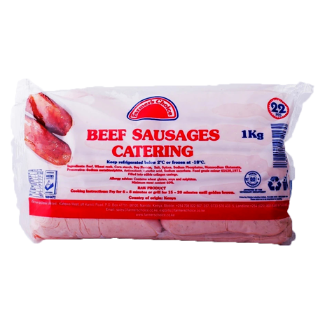 FC Beef Sausages 1kg Catering