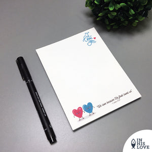 """I Love You"" Waterproof Notepad"
