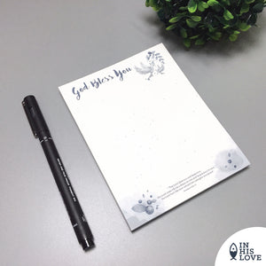 """God bless you"" Waterproof Notepad"