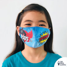 "Load image into Gallery viewer, KIDS Faith Mask ""Superhero"""
