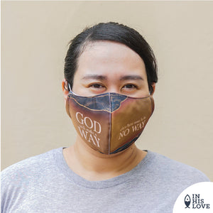 "LARGE Faith Mask ""God will make a Way"""