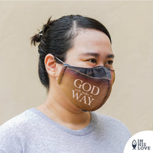 "Load image into Gallery viewer, LARGE Faith Mask ""God will make a Way"""