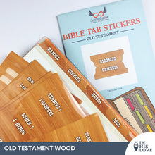 Load image into Gallery viewer, Bible Tab Stickers Old & New testament Set - Wood