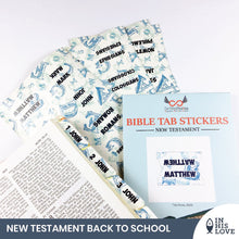 Load image into Gallery viewer, Bible Tab Stickers Old & New testament Set - Back To School