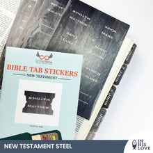 Load image into Gallery viewer, Bible Tab Stickers Old & New testament Set - Steel
