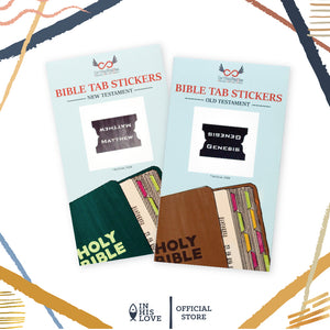 Bible Tab Stickers Old & New testament Set - Steel