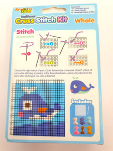 Whale Cross Stitch Kit