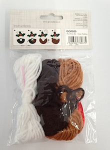 Christmas Pudding Pop Pom Kit