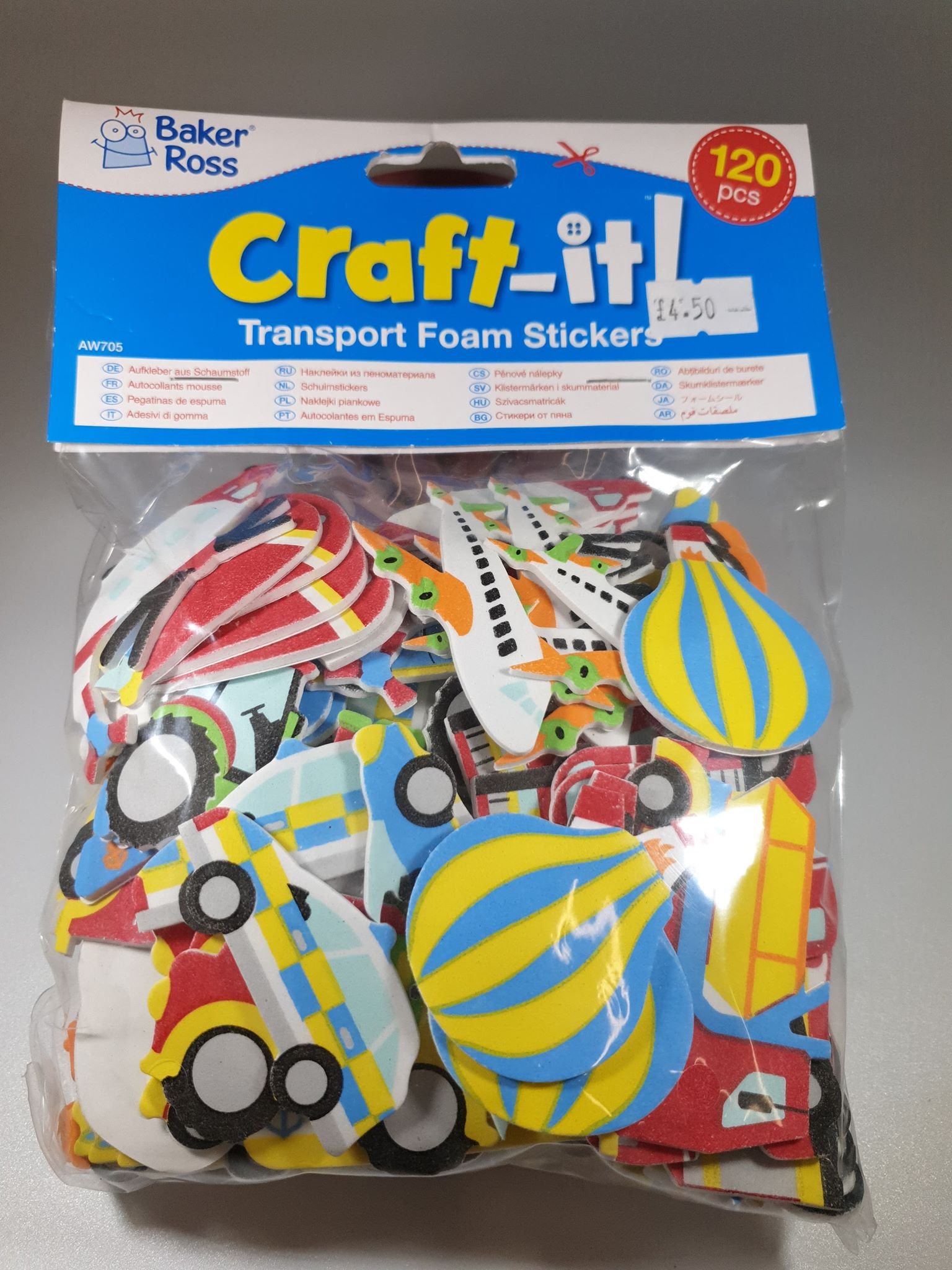 Transport Foam Stickers