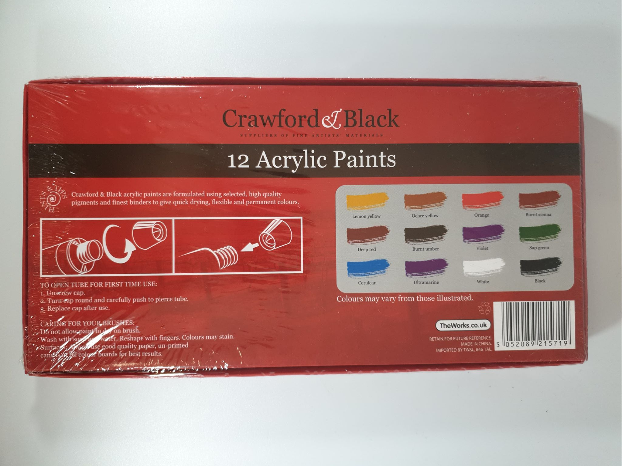 Crawford & Black Acrylic Paints