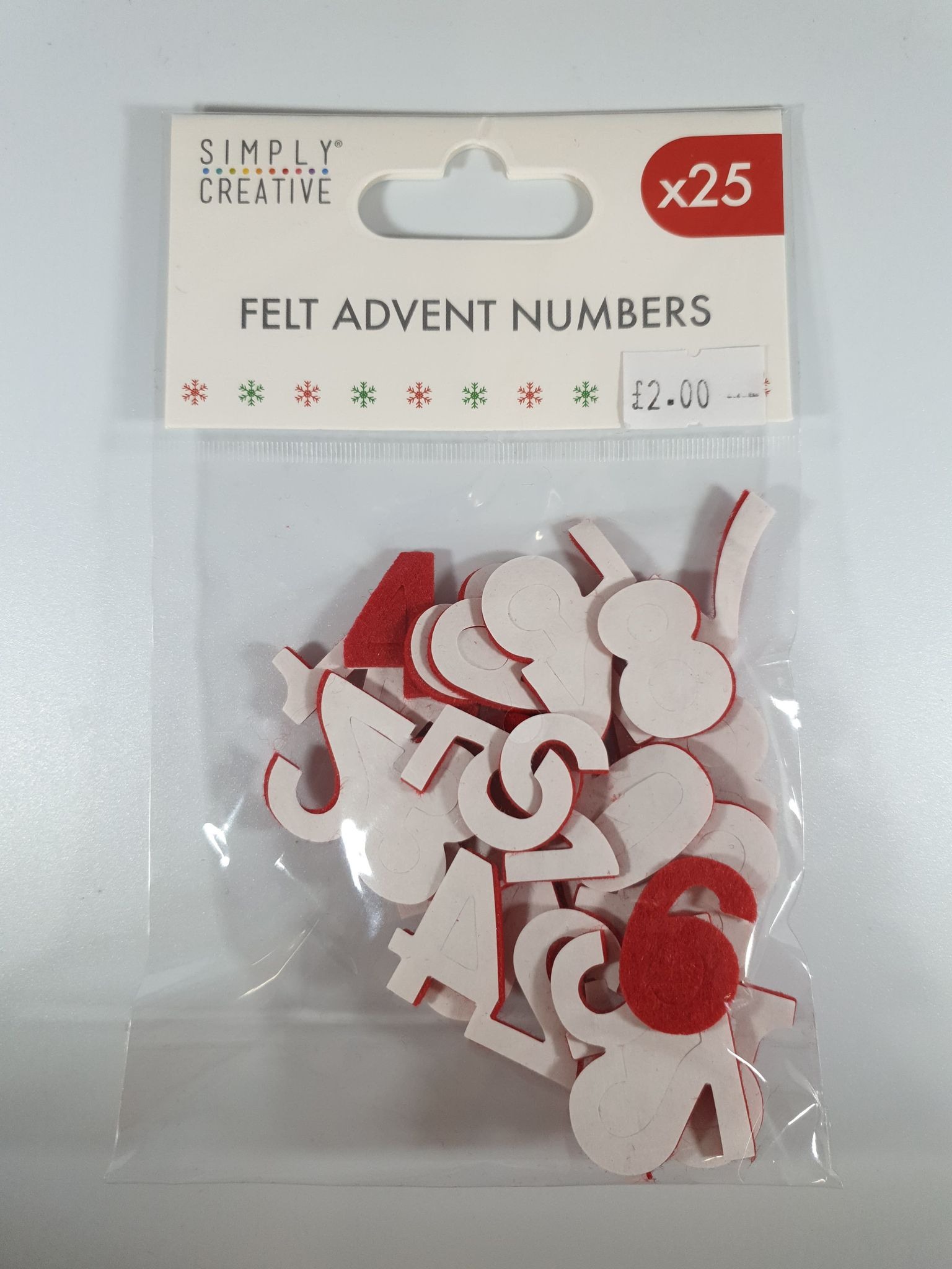 Felt Advent Numbers