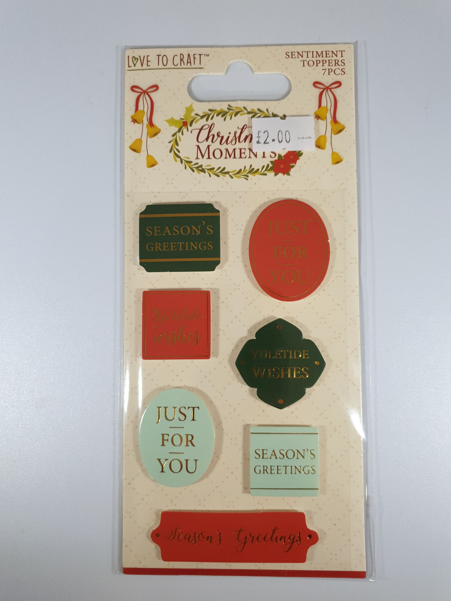 Christmas Moments Sentiment Toppers