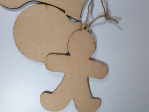 MDF Hanging Festive Decorations