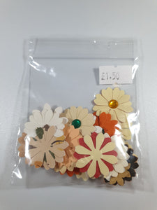 Bright Die Cut Flowers