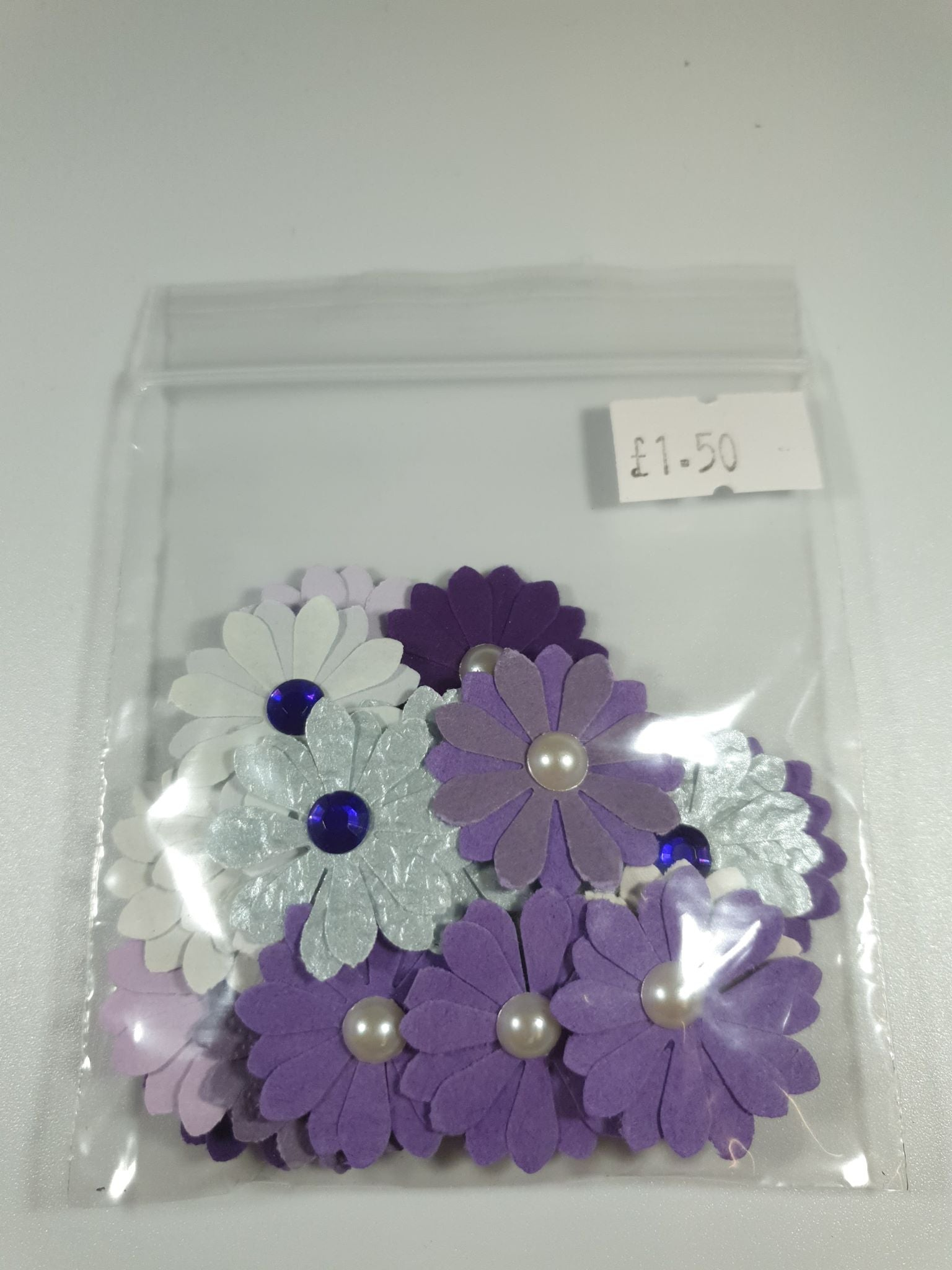 Purple Die Cut Flowers
