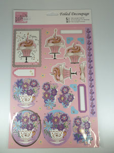 Cupcake Foiled Decoupage