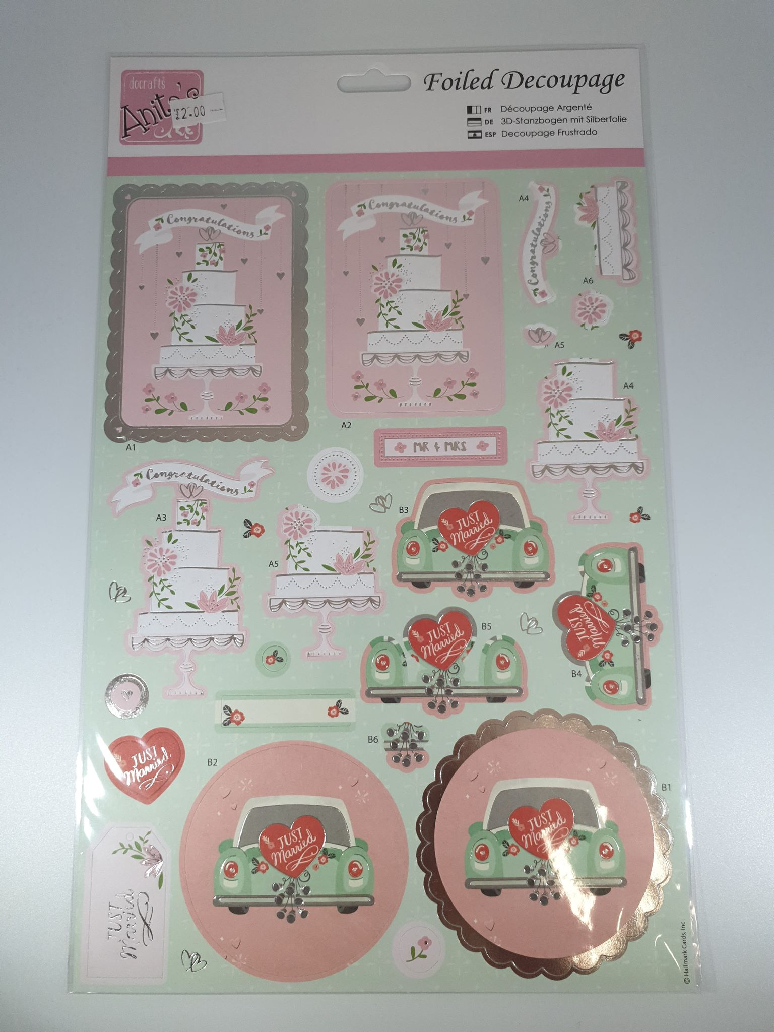 Wedding Foiled Decoupage