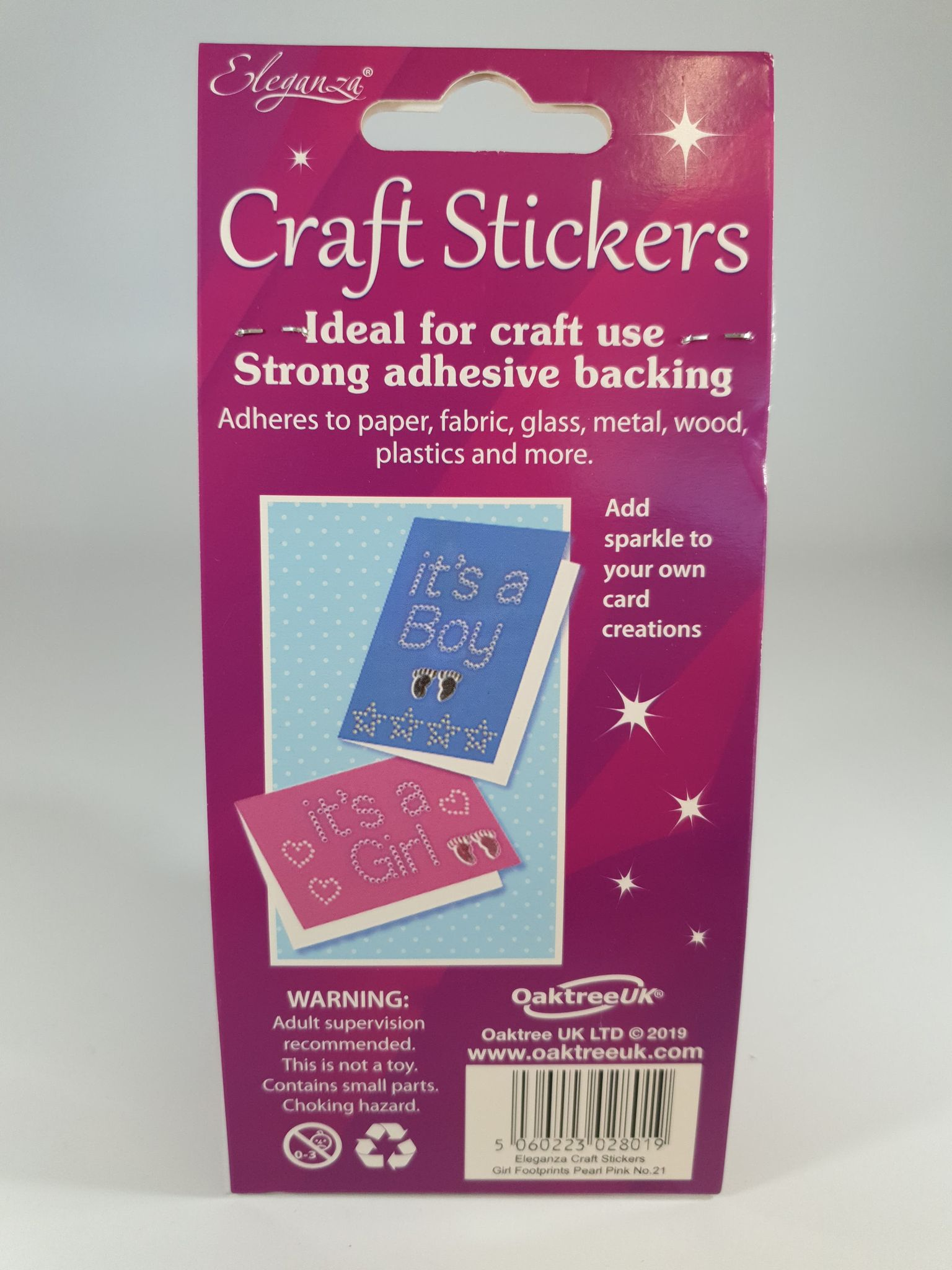 Pearl Pink Craft Stickers