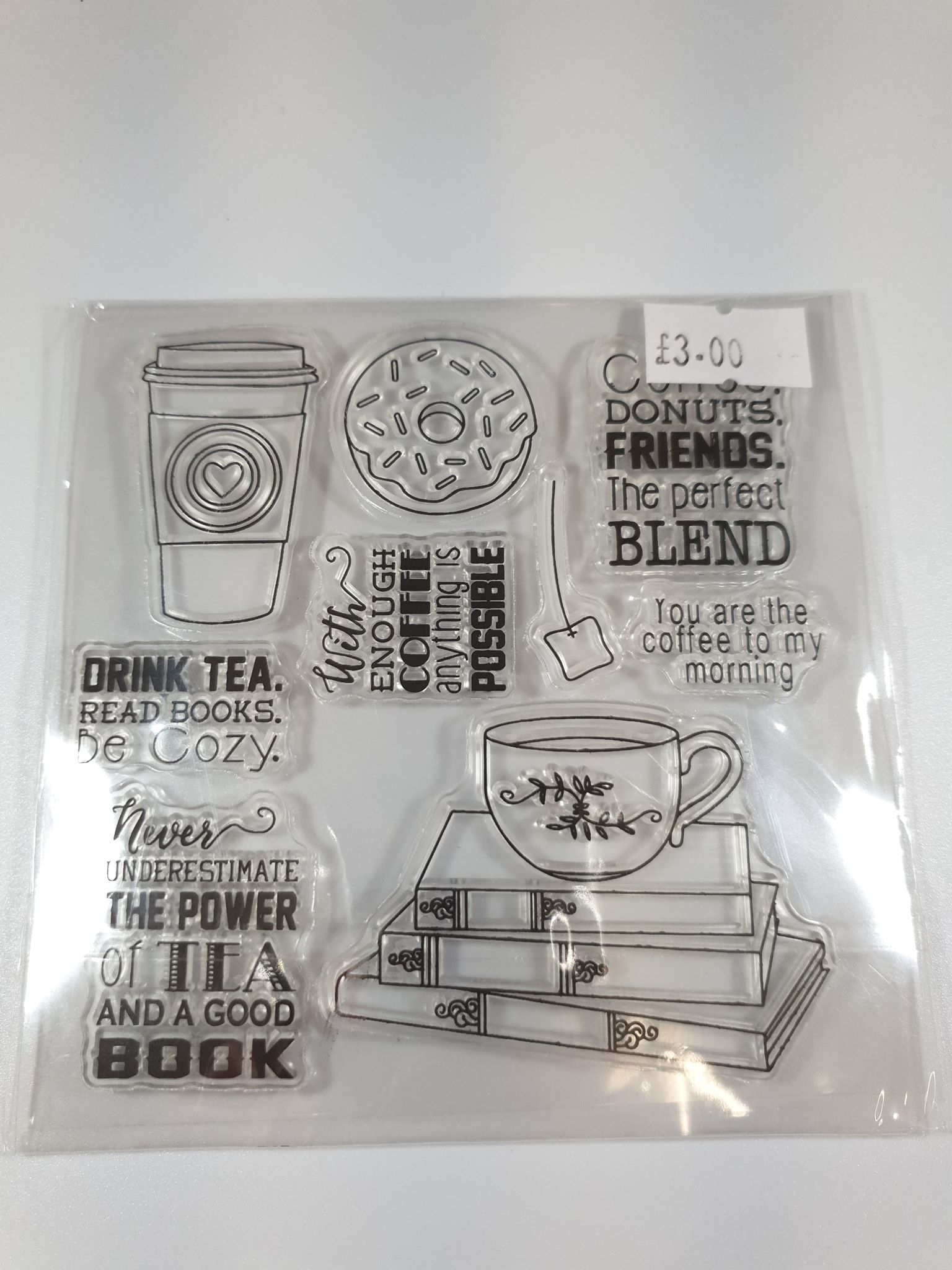 """Coffee Themed"" Silicone Stamps"