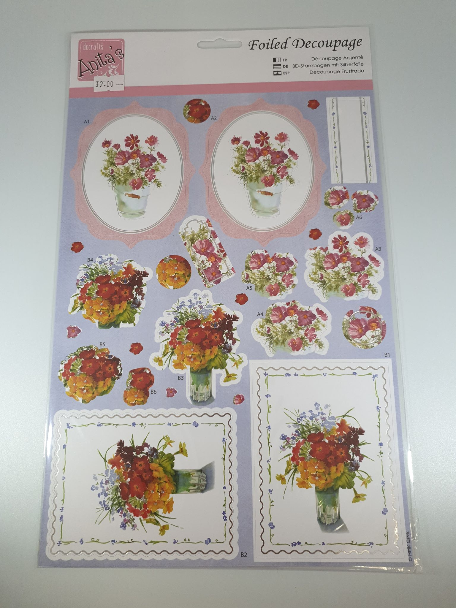 Flowers Foiled Decoupage