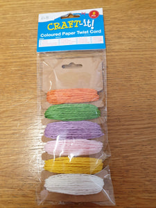 Coloured Twisted Paper Cord